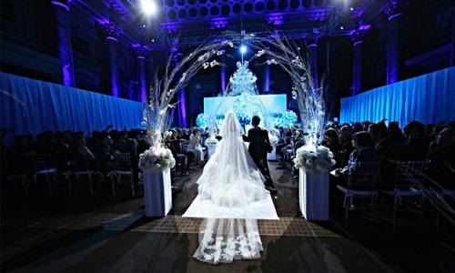 Winter Wonderland Jewish Wedding at Capitale NYC
